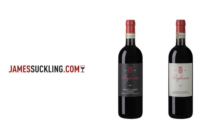 Nuovi punteggi di James Suckling per i vini di Pagliarese